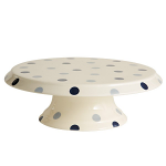 Fairmont & Main - Blue Spot Footed Cake Plate