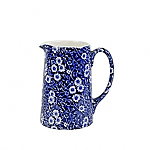 Burleigh Blue Calico Tankard Jug Mini 0.25 pint