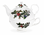 Portmeirion Holly & Ivy Tea for One Set 0.35L