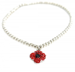 Poppy Bracelet - Stretch Charm 4 Petals