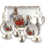 Beatrix Potter Peter Rabbit Classic Miniature Tea Set with Tray