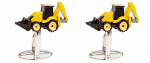 Digger Yellow and Black Cufflinks