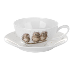 Royal Worcester Wrendale Designs - Cappuccino Cup & Saucer