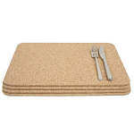 T&G Cork - Set of 4 Large Rectangular Tablemats in FSC certified cork