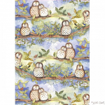 Alex Clark Owl Tea Towel