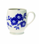Burleigh Blue Calico Accent Footed Mug 375ml 2/3pt