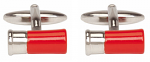 Gun Cartridge Red Cufflinks