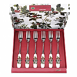 Portmeirion Holly & Ivy Pastry Fork Set 6