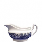 Churchill China Blue Willow Gravy Boat (Georgian)