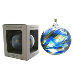 Amelia Birthstone Glass Friendship Ball - August in Blue Green Yellow