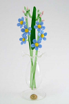 Suffolk Glass Water Forget me Not - Small Coloured