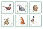Royal Worcester Wrendale Designs - Coasters - Assorted Set of 6