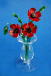 Suffolk Glass Poppies - Small Coloured