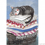 Alex Clark Laundry Basket Tea Towel