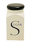 Fairmont & Main - Script Sugar Store Jar with Black Lid