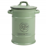 T&G Pride of Place Coffee Jar in Old Green