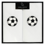 Men's White Handkerchiefs - Football - Twin Pack