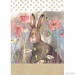 Alex Clark Hare and Poppies Tea Towel