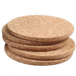 T&G Cork - Set of 6 Round Coasters in FSC certified cork