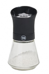 T&G - Tip Top Salt Mill with Black Top & Glass Base