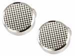 David Aster - Round Chequered Front Cufflinks