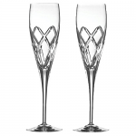 Galway Crystal Mystique Champagne Flutes - Set of 2