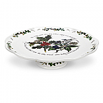 Portmeirion Holly & Ivy Pierced Footed Cake Plate 26cm