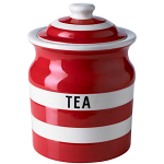 Cornishware - Cornish Red - Tea Storage Jar 84cl