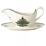 Spode Christmas Tree - Sauce Boat and Stand 11oz 0.33L