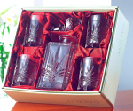 Galway Crystal Kells Decanter with 4 Tumblers Set