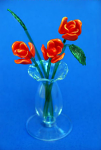 Suffolk Glass Rose Red - Small Coloured