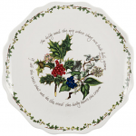 Portmeirion Holly & Ivy Scalloped Platter 28cm 11inch