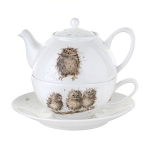 Royal Worcester Wrendale Designs - Tea For One with Saucer - Owls