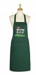 Cooksmart Cotton Apron with Pocket - Born to Golf