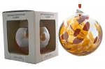 Amelia Birthstone Glass Friendship Ball - January in Red and Gold
