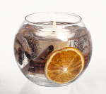 Stoneglow Candles Cinnamon & Orange Botanical Gel Fish Bowl