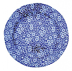 Burleigh Blue Calico Plate 19cm 7.5inch