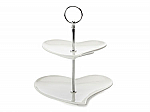 Maxwell & Williams - White Basics Heart 2 Tier Cake Stand