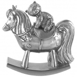 Royal Selangor Pewter Rocking Horse Trinket Box in Wooden Gift Box
