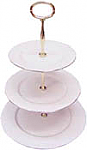 Duchess China Gold Edge - 3 Tier Cake Stand