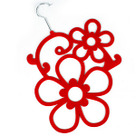 Scarf Hanger - Red Flowers