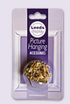 Leeds Display 12 Small Picture Hooks with Pins