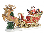 Aynsley Santa with Reindeer 15.5in Long