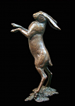Bronze Hare Standing Medium Limited Ed 200