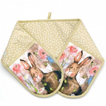 Alex Clark Hare and Poppies Oven Gloves