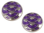 David Aster - Round Cufflinks - Purple Wave