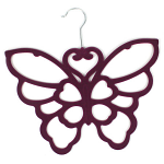 Scarf Hanger - Purple Butterfly