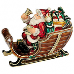 Craycombe Trinket Box - Santa with Sleigh & Bells