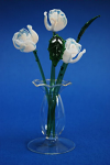 Suffolk Glass Rose White - Small Coloured