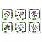Portmeirion Botanic Garden Coasters Square Set of 6